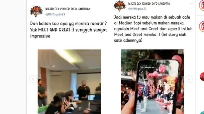 Meet and greet artis TikTok saat PPKM. [Instagram/tante_rempong_offficial]