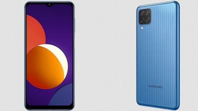 Samsung Galaxy M12 meluncur di Vietnam pada Februari 2021. Spesifikasi Galaxy M12 menonjolkan baterai 6000 mAh. [Dok Samsung Vietnam]