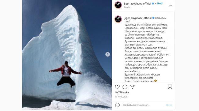 Gunung berapi es muncul di Kazakhstan. [Instagram]