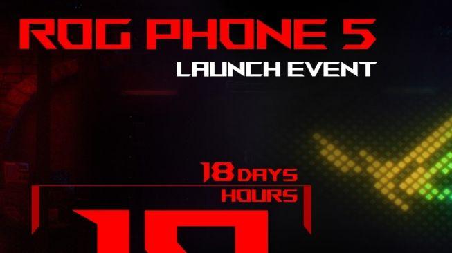 Laman khusus peluncuran Asus ROG Phone 5 telah dinyalakan pada pekan ini. [Dok Asus]