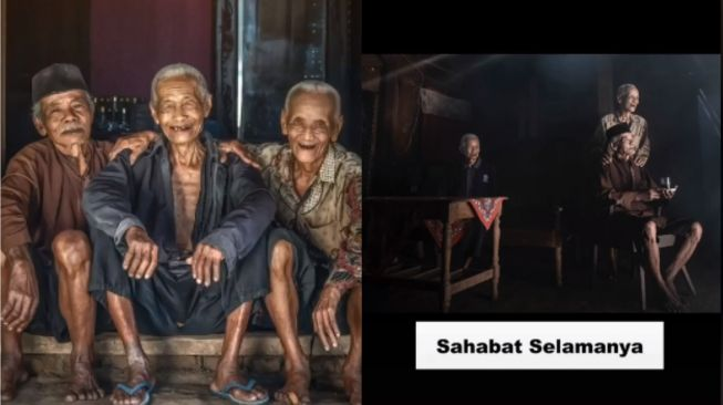 Kisah persahabatan tiga kakek dari kecil. (Tiktok/@okayariandireal)