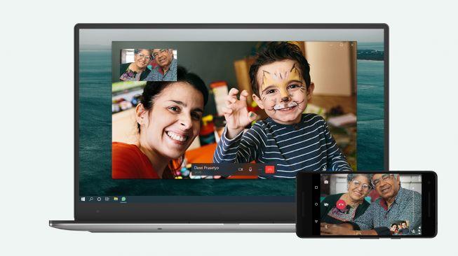 Fitur video call sudah tersedia di WhatsApp Desktop. [Dok WhatsApp]
