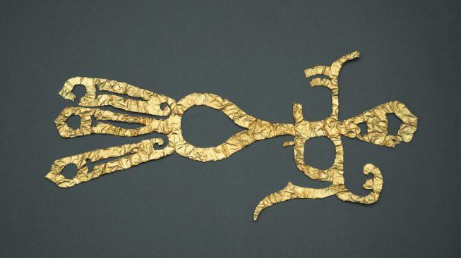 Penemuan hiasan emas berusia 3.000 tahun. [Chengdu.gov]