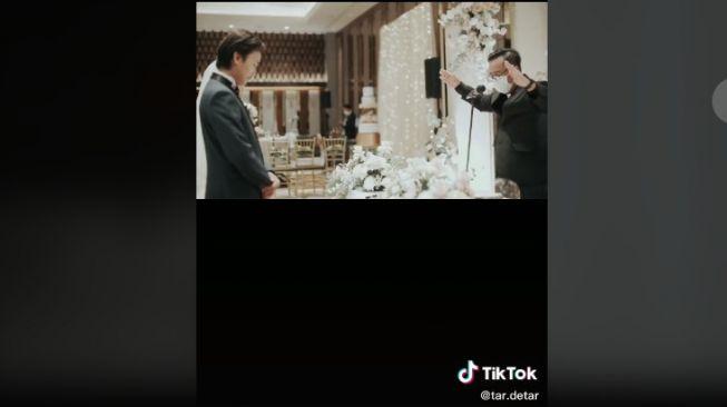 Pernikahan pasangan beda agama (tiktok.com/@tar.detar)