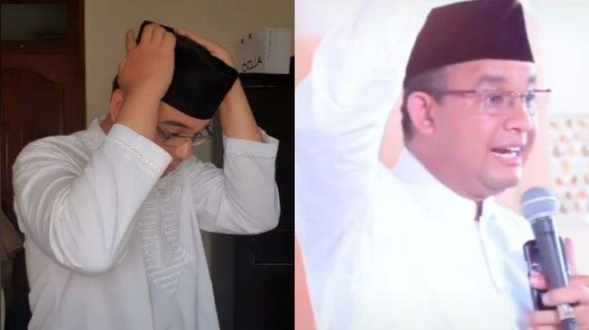 Pemuda disebut mirip Anies Baswedan. (Tiktok/@endriceyoga)