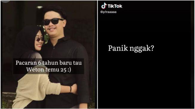 6 Tahun Pacaran, Pasangan ini Panik Gagal Nikah Gegara Primbon (TikTok/P1raaaaa)