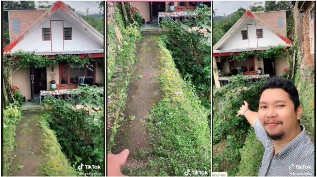 Viral Rumah Aneh Tepi Jurang, Publik: Melewati Jembatan Shiratal Mustaqim (TikTok/Trysatyacarlitos)