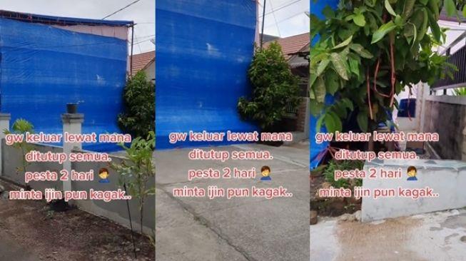 Viral Pria Emosi Tetangga Baru Gelar Pesta Gak Punya Akhlak. (TikTok/@agah777)