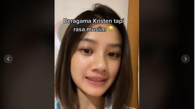 Beragama Kristen tapi Rasa Muslim (TikTok/Karenkurniawan_kk)