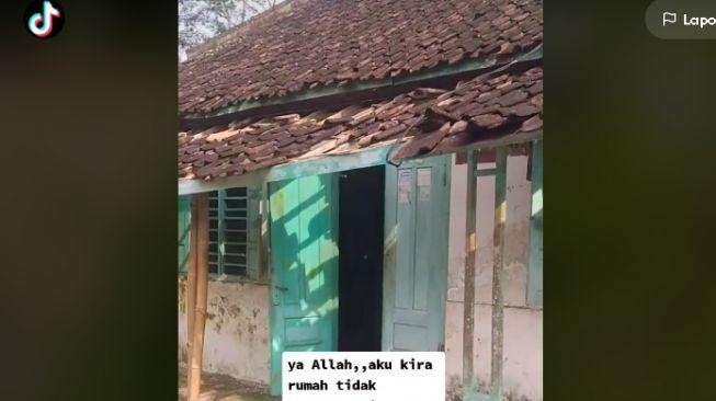 Rumah rusak dikira tak berpenghuni (tiktok.com/@httw_shifaa)