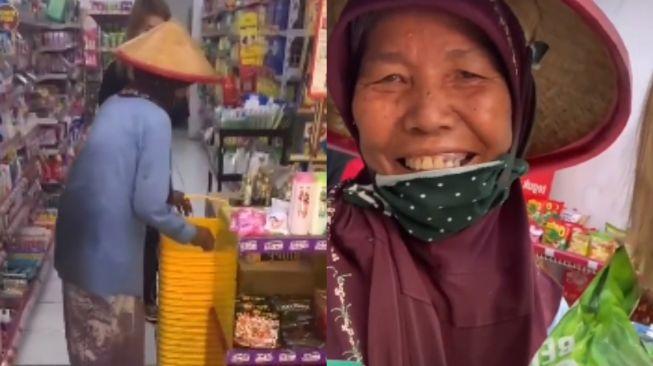 Seorang ibu mengaku tak pernah masuk minimarket. (Tiktok/@vilmeijuga)