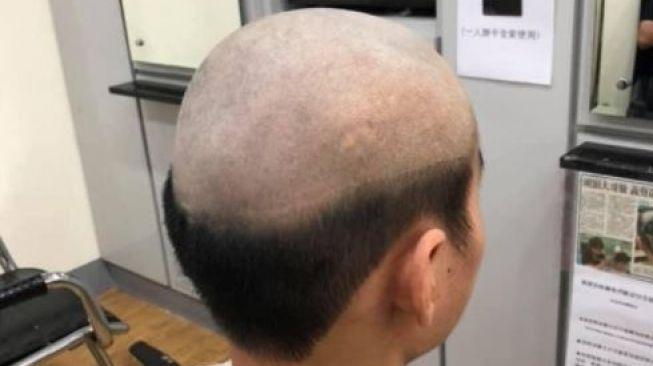 Potongan rambut agar anak tak keluyuran saat pandemi. (Facebook/Huang Ling Xiang)