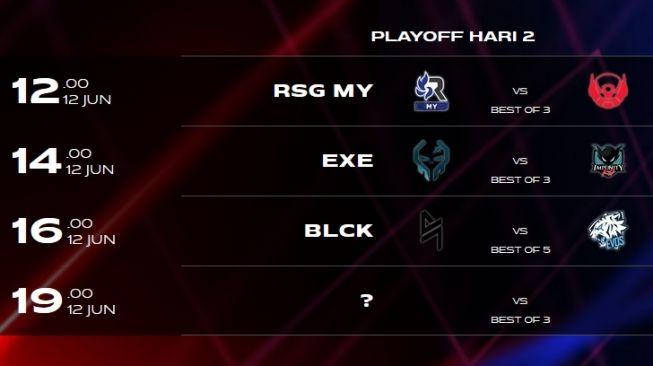 Jadwal MSC 2021 fase playoff hari kedua akan menentukan tim yang langsung lolos ke grand final. [Dok msc.mobilelegends.com]