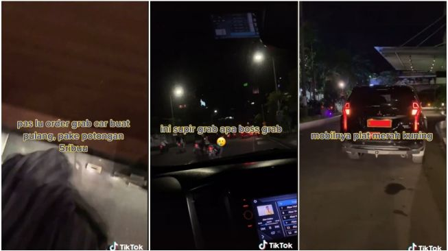 Pesan Taksi Online, Wanita Kaget yang Datang Mobil Plat Merah Kuning (TikTok)