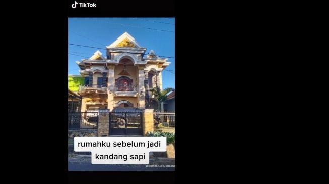 Viral Penampakan Rumah Mewah Disulap Jadi Kandang Sapi (TikTok)