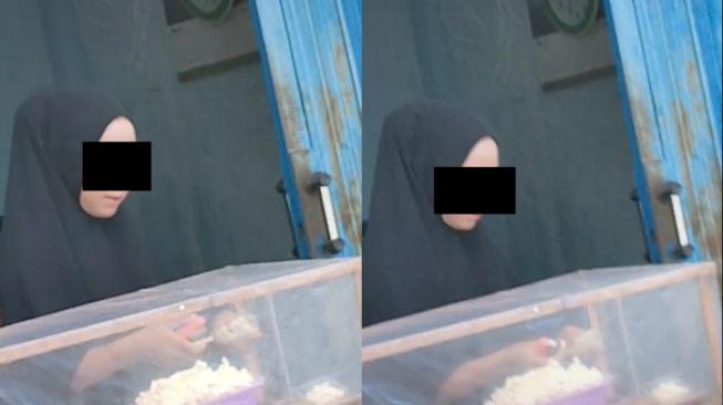 Wanita penjual jajanan dinyinyiri gegara make up. (Tiktok)