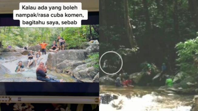 Kisah pria alami kejadian mistis di air terjun. (Tiktok/@papayen91)