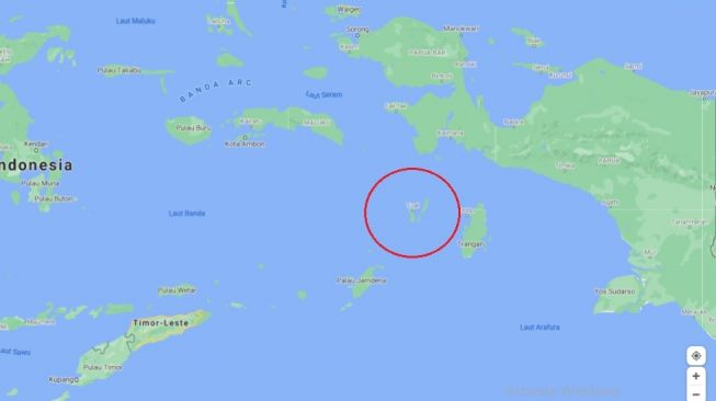 Kepulauan Kei di Maluku Tenggara diyakin menjadi jembatan yang membawa manusia awal ke zona Wallacea dan Sahul dari paparan Sunda. [Google Maps]