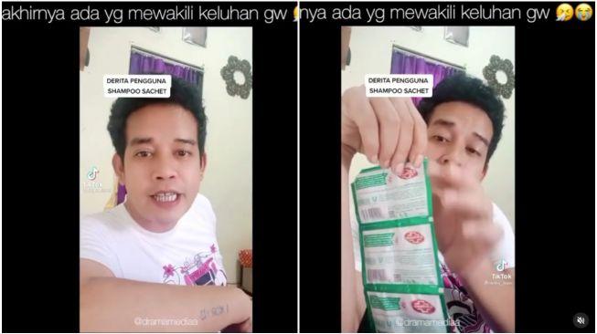 Pria Marah-Marah Perkara Bungkus Sampo Sachet (Instagram)