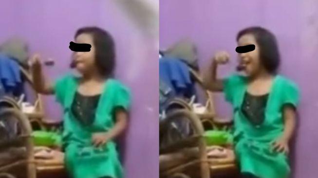 Aksi bocah ini bikin sang ibu merasa terharu sekaligus bangga. (Instagram/fakta.indo)