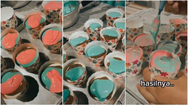 Niat Bikin Cupcake Warna Pelangi, Bentuknya Pas Matang Jadi Sorotan (TikTok)