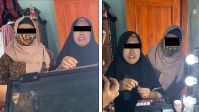 Aksi emak-emak serbu ruang rias pengantin (tiktok)