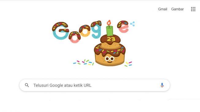 Google doodle hari ini, rayakan ulang tahun ke-23. [Screenshot]