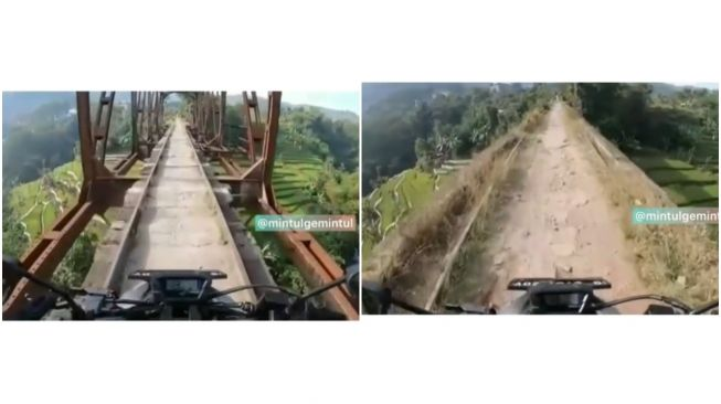 Viral Jembatan Gantung Bagaikan Tempat Uji Nyali (Instagram)