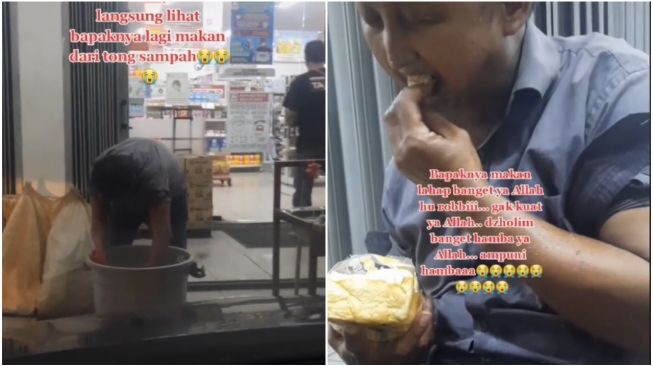 Lihat Pria Mengais Makanan di Tong Sampah, Wanita ini Menangis (TikTok)