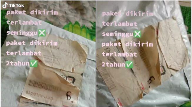 Viral Wanita Terima Paket Terlambat 2 Tahun, Isi Belanjaan Jadi Sorotan Warganet (TikTok)