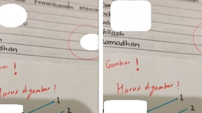 Mahasiswa dapat nilai jelek karena menggambar terlalu bagus (tiktok)