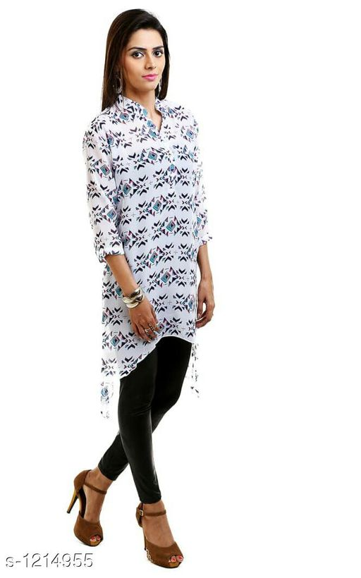 Kurta Sets Adorable Polyester Women Kurta Set  *Fabric* Kurti - Polyester, Leggings - Cotton  *Sleeves* 3/4th Sleeves Are Included  *Size* Top  *Type* Stitched  *Length* Kurti  *Description* It Has 1 Piece Of Kurti With 1 Legging  *Work* Kurti - Printed, Leggings  *Sizes Available* XXL   SKU: 2 Free shipping is available for this item. Pkt. Weight Range: 400  Catalog Name: Achala Glamarous Polyester Women Kurta Sets Vol 2 - Sharma Kurtis Code: 584-1214955--
