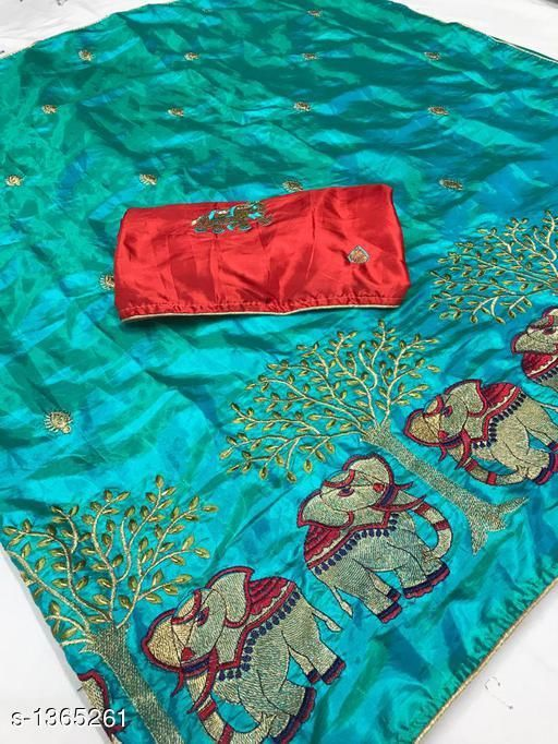 Sarees Attractive Paper Silk Saree  *Fabric* Saree - Paper Silk, Blouse - Paper Silk  *Size* Saree Length - 5.5 Mtr, Blouse Length - 0.80 Mtr  *Work* Embroidery & Border Work  *Sizes Available* Free Size   Catalog Rating: ★3.7 (20) Supplier Rating: ★4 (40958) SKU: HATHI_FIROZI Free shipping is available for this item. Pkt. Weight Range: 500  Catalog Name: Inaaya Attractive Paper Silk Sarees Vol 2 - P Variety Code: 968-1365261--
