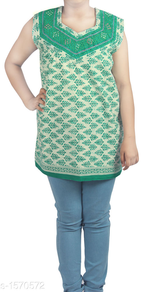 Kurtis & Kurtas Stunning Designer Stylish Short Kurti  *Fabric* Cotton  *Sleeves* Sleeves Are Included  *Size* Up To 36 in To 44 in (Free Size)  *Length* Up To 27 in  *Type* Stitched  *Description* It Has 1 Piece Of Women's Short Kurti  *Work* Printed  *Sizes Available* Free Size   Supplier Rating: ★3.8 (63) SKU: HC-Green-Floral  Shipping charges: Rs49 (Non-refundable) Pkt. Weight Range: 300  Catalog Name: Diva Stunning Designer Stylish Short Kurtis Vol 1 - HEMA FASHIONS Code: 942-1570572--