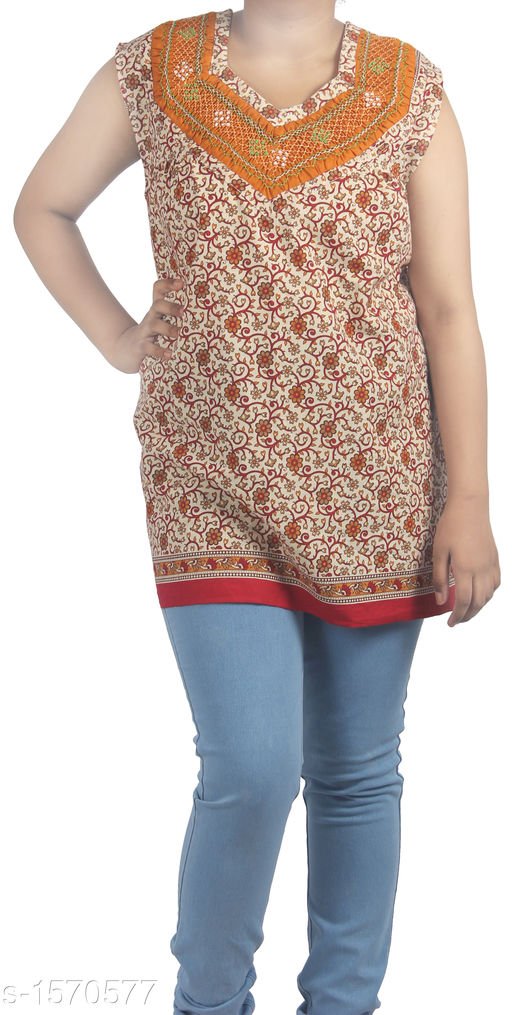 Kurtis & Kurtas Stunning Designer Stylish Short Kurti  *Fabric* Cotton  *Sleeves* Sleeves Are Included  *Size* Up To 36 in To 44 in (Free Size)  *Length* Up To 27 in  *Type* Stitched  *Description* It Has 1 Piece Of Women's Short Kurti  *Work* Printed  *Sizes Available* Free Size   Supplier Rating: ★3.8 (63) SKU: HC-Orange-Floral  Shipping charges: Rs49 (Non-refundable) Pkt. Weight Range: 300  Catalog Name: Diva Stunning Designer Stylish Short Kurtis Vol 1 - HEMA FASHIONS Code: 942-1570577--
