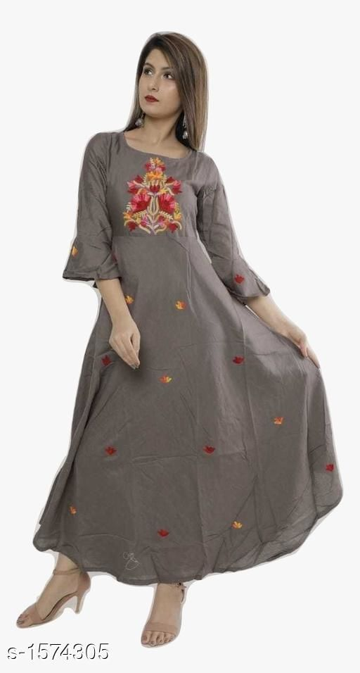 Kurtis & Kurtas Designer Party Wear Rayon Long Kurti  *Fabric* Kurti - Rayon  *Sleeves* Sleeves Are Included  *Size* Kurti (Bust) - M - 38 in , L - 40 in, XL - 42 in, XXL - 44 in  *Length * Up To 50 in  *Type* Stitched  *Description* It Has 1 Piece Of Women's Long Kurti  *Work* Embroidered  *Sizes Available* M, L, XL, XXL   Catalog Rating: ★3.9 (166) Supplier Rating: ★3.5 (154) SKU: 33 Free shipping is available for this item. Pkt. Weight Range: 350  Catalog Name: Yashvi Designer Party Wear Rayon Long Kurtis   #Re1Shipping - Pancham Code: 077-1574305--
