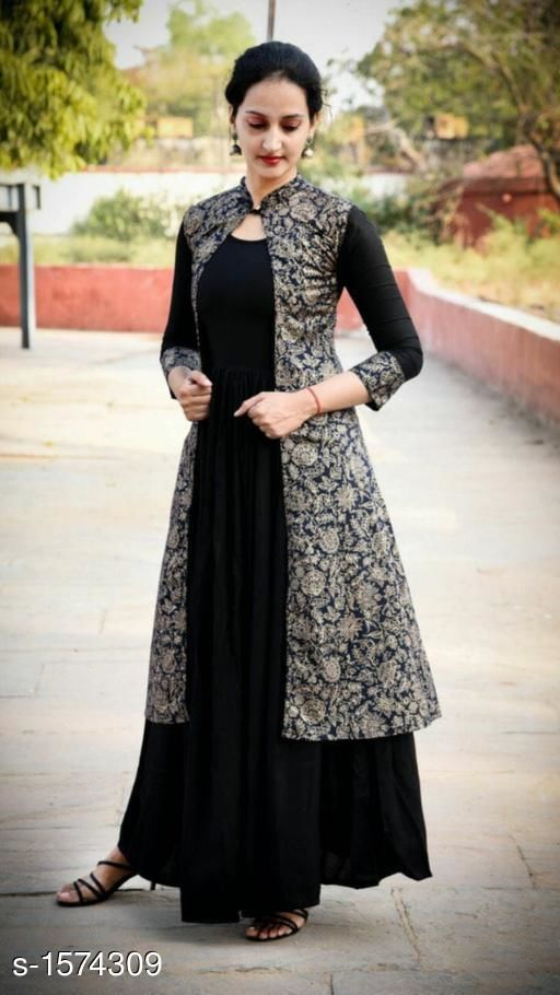 Kurtis & Kurtas Designer Party Wear Rayon Long Kurti  *Fabric* Kurti - Rayon  *Sleeves* Sleeves Are Included  *Size* Kurti (Bust) - M - 38 in , L - 40 in, XL - 42 in, XXL - 44 in  *Length * Up To 50 in  *Type* Stitched  *Description* It Has 1 Piece Of Women's Long Kurti  *Work* Printed  *Sizes Available* M, L, XL, XXL   Catalog Rating: ★3.9 (166) Supplier Rating: ★4 (5560) SKU: 35 Free shipping is available for this item. Pkt. Weight Range: 350  Catalog Name: Yashvi Designer Party Wear Rayon Long Kurtis   #Re1Shipping - FPK Code: 259-1574309--