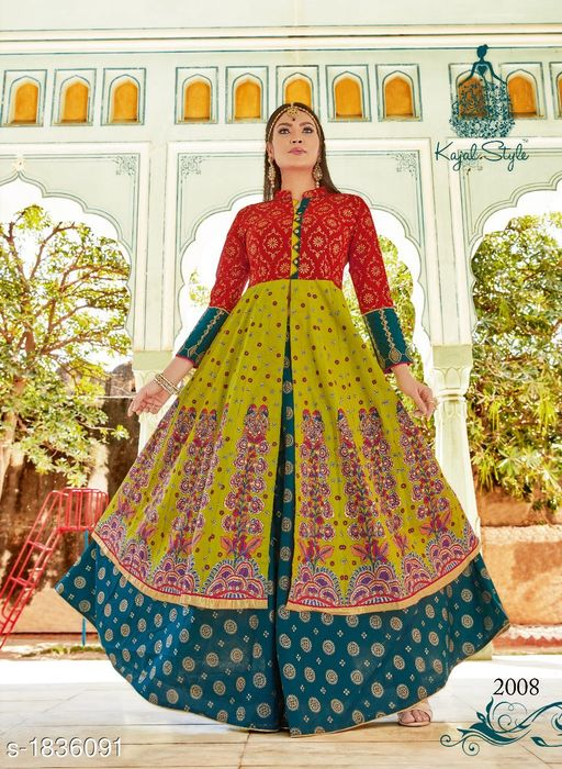 Kurtis & Kurtas Adorable Lawn Cotton Printed Women's Kurti  *Fabric* Kurti - Lawn Cotton , Lehenga  - Lawn Cotton  *Sleeves* 3/4 Sleeves Are  Included  *Size* Kurti - L - 40 in , XL - 42 in , Lehenga - L -32 in, XL -34 in  *Length* Kurti - 50 in , Lehenga - 42 in  *Type* Stitched  *Description* It Has 1 Piece Of Kurti & 1 Piece Of Lehenga  *Work * Kurti - Printed , Lehenga - Printed  *Sizes Available* L   Supplier Rating: ★4.1 (220) SKU: 2008 Free shipping is available for this item. Pkt. Weight Range: 500  Catalog Name: Siya Adorable  Lawn Cotton Printed Women's Kurtis Vol 1 - Archana LLP Code: 0211-1836091--