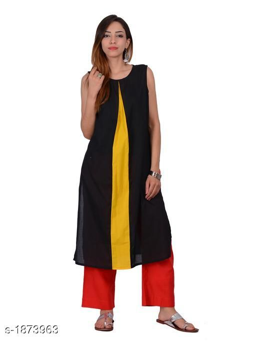 Kurtis & Kurtas Attractive Cotton Plain Kurti  *Fabric* Cotton  *Sleeves* Sleeves Are Not Included  * Size* S - 36 in,  M - 38 in, L - 40 in, XL - 42 in  *Length* Up To 44 in  *Type* Stitched  *Description* It Has 1 Piece Of Kurti  *Pattern* Solid  *Sizes Available* S, M, L, XL   Supplier Rating: ★4.3 (20) SKU: 1169 Free shipping is available for this item. Pkt. Weight Range: 300  Catalog Name: Izmira Attractive Cotton Plain Kurtis vol 1 - Aksi Code: 966-1873963--