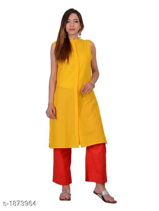 Kurtis & Kurtas Attractive Cotton Plain Kurti  *Fabric* Cotton  *Sleeves* Sleeves Are Not Included  *Size* S - 36 in,  M - 38 in, L - 40 in, XL - 42 in  *Length* Up To 40 in  *Type* Stitched  *Description* It Has 1 Piece Of Kurti  *Pattern* Solid  *Sizes Available* S, M, L, XL   Supplier Rating: ★4.3 (20) SKU: 1170 Free shipping is available for this item. Pkt. Weight Range: 300  Catalog Name: Izmira Attractive Cotton Plain Kurtis vol 1 - Aksi Code: 966-1873964--