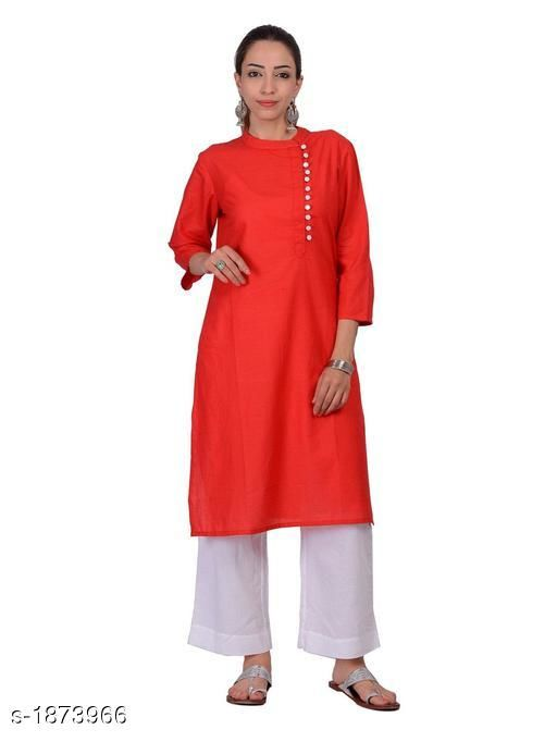 Kurtis & Kurtas Attractive Cotton Plain Kurti  *Fabric* Cotton  *Sleeves* 3/4 Sleeves Are Included  *Size* S - 36 in,  M - 38 in, L - 40 in, XL - 42 in  *Length* Up To 42 in  *Type* Stitched  *Description* It Has 1 Piece Of Kurti  *Pattern* Solid  *Sizes Available* S, M, L, XL   Supplier Rating: ★4.3 (20) SKU: 1176 Free shipping is available for this item. Pkt. Weight Range: 300  Catalog Name: Izmira Attractive Cotton Plain Kurtis vol 1 - Aksi Code: 966-1873966--