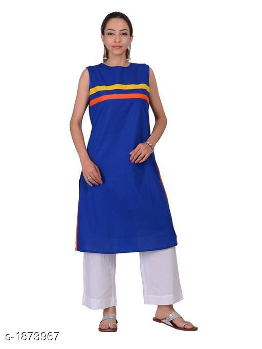 Kurtis & Kurtas Attractive Cotton Plain Kurti  *Fabric* Cotton  *Sleeves* Sleeves Are Not Included  *Size* S - 36 in,  M - 38 in, L - 40 in, XL - 42 in  *Length* Up To 40 in  *Type* Stitched  *Description* It Has 1 Piece Of Kurti  *Pattern* Solid  *Sizes Available* S, M, L, XL   Supplier Rating: ★4.3 (20) SKU: 1180 Free shipping is available for this item. Pkt. Weight Range: 300  Catalog Name: Izmira Attractive Cotton Plain Kurtis vol 1 - Aksi Code: 966-1873967--