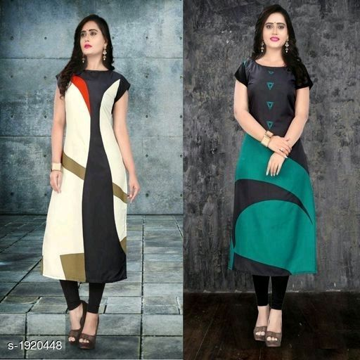 Kurtis & Kurtas Stylish American Crepe Kurtis Combo  *Fabric* Kurti 1 - American Crepe, Kurti 2 - American Crepe  *Sleeves* Cap Sleeves Are Included  *Size* M - 38 in, L - 40 in, XL - 42 in, XXL - 44 in  *Length* Kurti 1 - Up To 46 in, Kurti 2 - Up To 46 in  *Type* Stitched  *Description* It Has 2 Pieces Of Kurtis  *Work* Kurti 1 - Digital Printed, Kurti 2 - Digital Printed  *Sizes Available* M, L, XL, XXL   Supplier Rating: ★4.1 (116) SKU: SACKC_9 Free shipping is available for this item. Pkt. Weight Range: 600  Catalog Name: Alisha Stylish American Crepe Kurtis Combo Vol 1 - DHRM FASHION Code: 917-1920448--