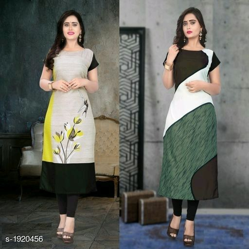 Kurtis & Kurtas Stylish American Crepe Kurtis Combo  *Fabric* Kurti 1 - American Crepe, Kurti 2 - American Crepe  *Sleeves* Cap Sleeves Are Included  *Size* M - 38 in, L - 40 in, XL - 42 in, XXL - 44 in  *Length* Kurti 1 - Up To 46 in, Kurti 2 - Up To 46 in  *Type* Stitched  *Description* It Has 2 Pieces Of Kurtis  *Work* Kurti 1 - Digital Printed, Kurti 2 - Digital Printed  *Sizes Available* M, L, XL, XXL   Supplier Rating: ★4.1 (116) SKU: SACKC_5 Free shipping is available for this item. Pkt. Weight Range: 600  Catalog Name: Alisha Stylish American Crepe Kurtis Combo Vol 1 - DHRM FASHION Code: 917-1920456--