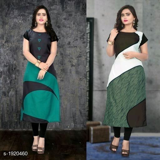 Kurtis & Kurtas Stylish American Crepe Kurtis Combo  *Fabric* Kurti 1 - American Crepe, Kurti 2 - American Crepe  *Sleeves* Cap Sleeves Are Included  *Size* M - 38 in, L - 40 in, XL - 42 in, XXL - 44 in  *Length* Kurti 1 - Up To 46 in, Kurti 2 - Up To 46 in  *Type* Stitched  *Description* It Has 2 Pieces Of Kurtis  *Work* Kurti 1 - Digital Printed, Kurti 2 - Digital Printed  *Sizes Available* M, L, XL, XXL   Supplier Rating: ★4.1 (116) SKU: SACKC_1 Free shipping is available for this item. Pkt. Weight Range: 600  Catalog Name: Alisha Stylish American Crepe Kurtis Combo Vol 1 - DHRM FASHION Code: 917-1920460--