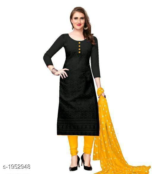 Kurtis & Kurtas Voguish Cotton Chikankari Kurtis With Dupatta  *Fabric* Kurti - Cotton , Dupatta - Cotton  *Sleeves* Sleeves Are Included  *Size* Kurti - M - 38 in, L - 40 in, XL - 42 in, XXL - 44 in , Dupatta - 2.25 Mtr  *Length* Up To 48 in  *Type* Stitched  *Description* It Has 1 Piece Of Women's Kurti With Dupatta  *Work* Chikankari Work  *Sizes Available* M, L, XL, XXL   Catalog Rating: ★3.8 (254) Supplier Rating: ★3.8 (5354) SKU: 101-GOLDEN Shipping charges: Rs49 (Non-refundable) Pkt. Weight Range: 500  Catalog Name: Abhisarika Voguish Cotton Chikankari Kurtis With Dupattas - CROP FASHIONS Code: 982-1952948--992