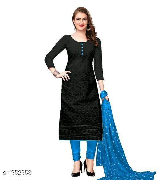 Kurtis & Kurtas Voguish Cotton Chikankari Kurtis With Dupatta  *Fabric* Kurti - Cotton , Dupatta - Cotton  *Sleeves* Sleeves Are Included  *Size* Kurti - M - 38 in, L - 40 in, XL - 42 in, XXL - 44 in , Dupatta - 2.25 Mtr  *Length* Up To 48 in  *Type* Stitched  *Description* It Has 1 Piece Of Women's Kurti With Dupatta  *Work* Chikankari Work  *Sizes Available* M, L, XL, XXL   Catalog Rating: ★3.8 (254) Supplier Rating: ★3.8 (5354) SKU: 101-SKYBLUE Shipping charges: Rs49 (Non-refundable) Pkt. Weight Range: 500  Catalog Name: Abhisarika Voguish Cotton Chikankari Kurtis With Dupattas - CROP FASHIONS Code: 982-1952953--992