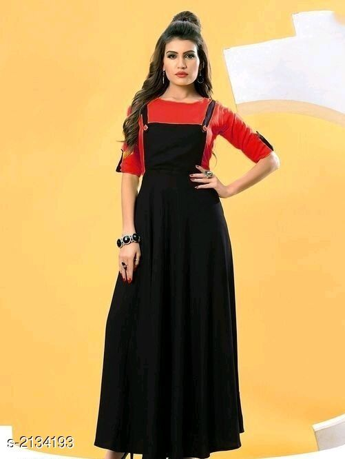 Kurtis & Kurtas  Attractive Rayon Women's Kurti & T-shirt  *Fabric * Kurti - Rayon 14 kg, T-shirt - Rayon 14 kg  *Sleeves* Kurti - Sleeves Are Not Included, T-shirt - Sleeves Are Included  *Size* Kurti - L- 40 in, XL- 42 in, XXL- 44 in, T-shirt - L- 40 in, XL- 42 in, XXL- 44 in  *Length* Kurti - Up To 50 in, T-shirt - Up To 18 in  *Type* Stitched  *Description* It Has 1 Piece Of Women's Kurti With 1 Piece Of T-shirt  *Pattern* Kurtis - Solid , T- Shirt - Solid  *Sizes Available* L, XL, XXL   Catalog Rating: ★3.8 (6) Supplier Rating: ★3.6 (1153) SKU: Red Rayon Free shipping is available for this item. Pkt. Weight Range: 500  Catalog Name: Faatina Attractive Rayon Women's Kurtis & T-shirts Vol 3 - AKK STORE Code: 637-2134193--