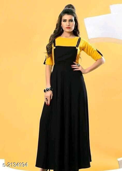 Kurtis & Kurtas  Attractive Rayon Women's Kurti & T-shirt  *Fabric * Kurti - Rayon 14 kg, T-shirt - Rayon 14 kg  *Sleeves* Kurti - Sleeves Are Not Included, T-shirt - Sleeves Are Included  *Size* Kurti - L- 40 in, XL- 42 in, XXL- 44 in, T-shirt - L- 40 in, XL- 42 in, XXL- 44 in  *Length* Kurti - Up To 50 in, T-shirt - Up To 18 in  *Type* Stitched  *Description* It Has 1 Piece Of Women's Kurti With 1 Piece Of T-shirt  *Pattern* Kurtis - Solid , T- Shirt - Solid  *Sizes Available* L, XL, XXL   Catalog Rating: ★3.8 (6) Supplier Rating: ★3.6 (1153) SKU: Yellow Rayon Free shipping is available for this item. Pkt. Weight Range: 500  Catalog Name: Faatina Attractive Rayon Women's Kurtis & T-shirts Vol 3 - AKK STORE Code: 637-2134194--
