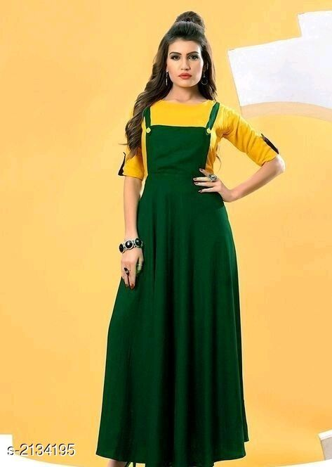 Kurtis & Kurtas  Attractive Rayon Women's Kurti & T-shirt  *Fabric * Kurti - Rayon 14 kg, T-shirt - Rayon 14 kg  *Sleeves* Kurti - Sleeves Are Not Included, T-shirt - Sleeves Are Included  *Size* Kurti - L- 40 in, XL- 42 in, XXL- 44 in, T-shirt - L- 40 in, XL- 42 in, XXL- 44 in  *Length* Kurti - Up To 50 in, T-shirt - Up To 18 in  *Type* Stitched  *Description* It Has 1 Piece Of Women's Kurti With 1 Piece Of T-shirt  *Pattern* Kurtis - Solid , T- Shirt - Solid  *Sizes Available* L, XL, XXL   Catalog Rating: ★3.8 (6) Supplier Rating: ★3.6 (1153) SKU: Green rayon Free shipping is available for this item. Pkt. Weight Range: 500  Catalog Name: Faatina Attractive Rayon Women's Kurtis & T-shirts Vol 3 - AKK STORE Code: 637-2134195--